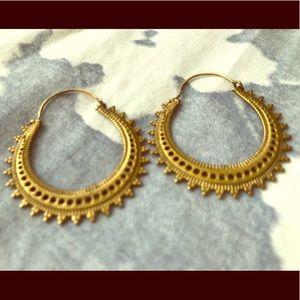 Beautiful handmade hoop earrings